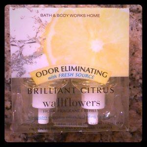 Bath and body works brilliant citrus wallflowers